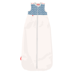 Illustration of baby sleeping bag New little leaves 24-48 months